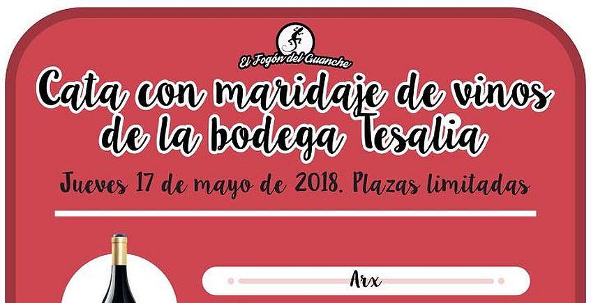 17 de mayo. Puerto Real. Cata con maridaje de vinos de la Bodega Tesalia en El Fogón del Guanche
