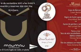 16 de noviembre. Cádiz. Cena maridada con vinos de Díez Mérito