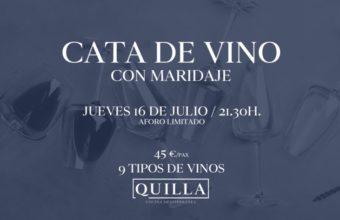 Cata de vino con maridaje en Quilla Sotogrande
