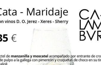 16 de marzo. El Puerto. Cata Maridaje en Calambur con vinos de Jerez