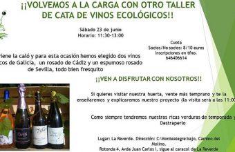 23 de junio. Jerez. Taller de Cata de vinos ecológicos