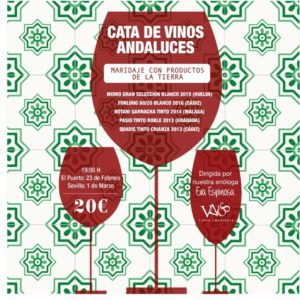 Carta de vinos andaluces