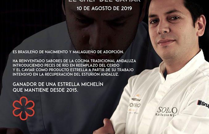 Menú degustación del 'chef del caviar', Diego Gallegos, en el Hotel Utopía de Benalup