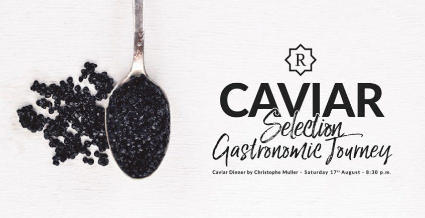 Cena con caviar del chef Christophe Muller del Paul Bocuse