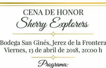 13 de abril. Jerez. Cena de honor de los Sherry Explorers