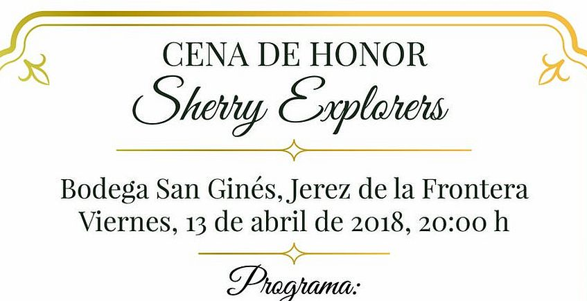 13 de abril. Jerez. Cena de honor de los Sherry Explorers