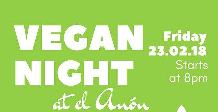 23 de febrero. Jimena. Noche vegana en Hostal El Anón