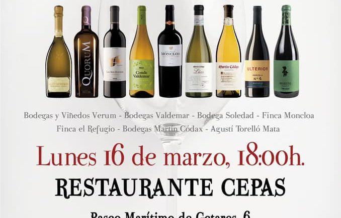 Cata de Wine Up en Restaurante Cepas de Algeciras (suspendida)