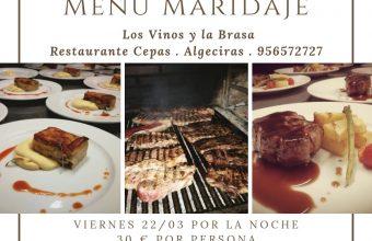 22 de febrero. Algeciras. Menú maridaje Los Vinos y La Brasa