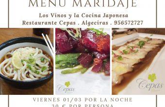 1 de marzo. Algeciras. Los vinos y la cocina japonesa, en Restaurante Cepas