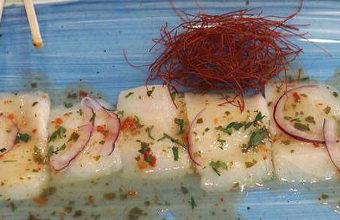 El ceviche de pez mantequilla de Salicornia