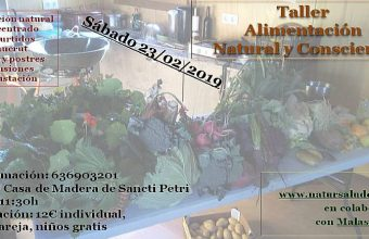 23 de febrero. Chiclana. Taller de alimentación natural y consciente