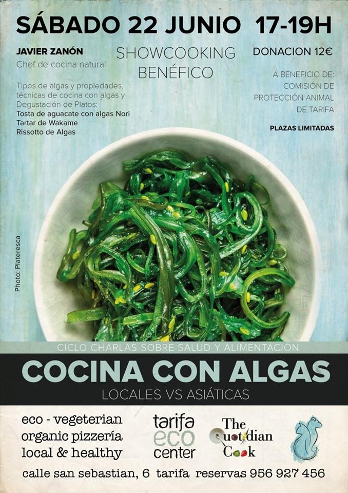 cocinar con algas en tarifa ecocenter