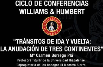 26 de abril. Jerez. Conferencia de Carmen Borrego en Williams & Humbert