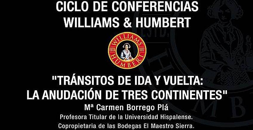 26 de abril. Jerez. Conferencia de Carmen Borrego en Williams & Humbert