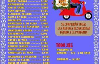 Mercadillo de dulces en el Convento de Santo Domingo de Jerez, con servicio a domicilio