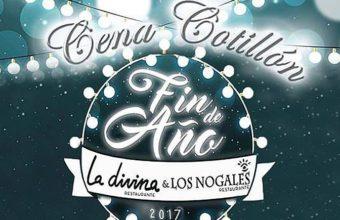 31 de diciembre. El Bosque. Cena cotillón en La Divina y Los Nogales.