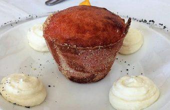 El coulant de Atún Rojo relleno de crema de atún encebollado del Restaurante Popeye