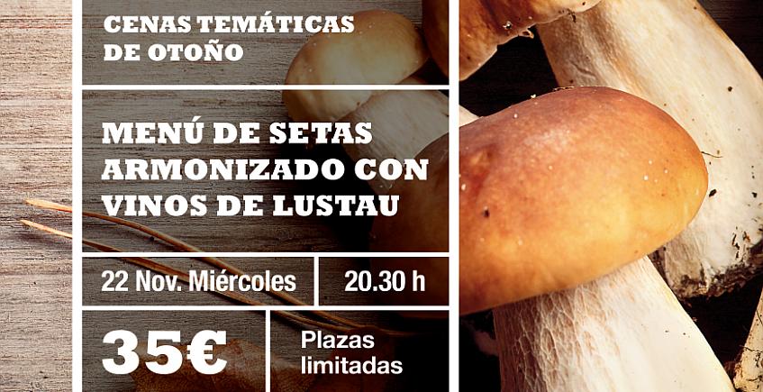 22 de noviembre. Jerez. Cena dedicada a las setas en La Cruz Blanca