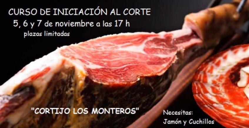 Curso de iniciación al corte de jamón en Cortijo Los Monteros de Medina del 5 al 7 de noviembre