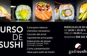 24 de mayo. Cádiz. Curso de sushi en Gadisushi