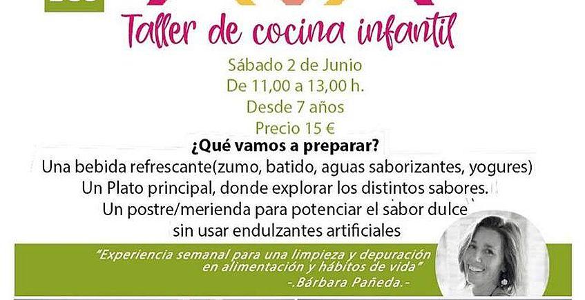 2 de junio. Jerez. Primer taller de cocina saludable para niños en La Panacea