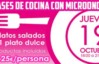 19 de octubre. Jerez. Clase de cocina con microondas en Gemelas al Jerez