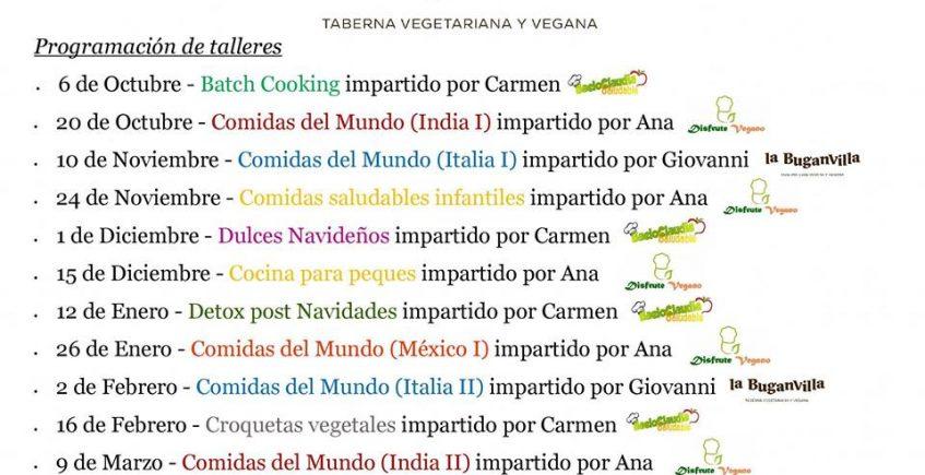 Del 6 de octubre al 6 de abril. Algeciras. Talleres de cocina en La Buganvilla