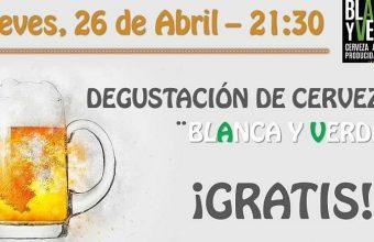 26 de abril. Chiclana. Degustación gratuita de cerveza Verde y Blanca