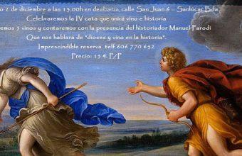 2 de diciembre. Sanlúcar. Cata 'Dioses y vino en la historia' en Dealbariza