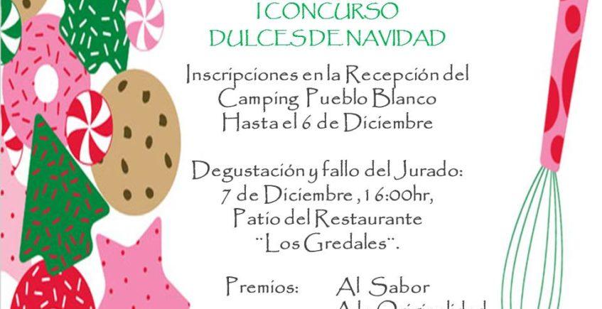 Concurso de dulces de Navidad en el camping Pueblo Blanco de Olvera