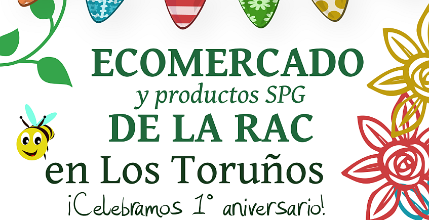 1 de julio. El Puerto. Primer aniversario del Ecomercado de los Toruños con sorteos y actividades