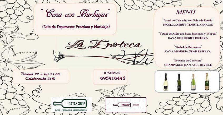 27 de abril. San Roque. Cata de vinos espumosos premium y maridaje
