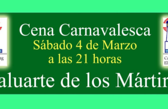 4 de marzo. Cádiz. Cena Carnavalesca