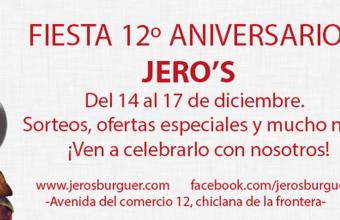 14 a 17 de diciembre. Chiclana. Aniversario de Jero's Burguer