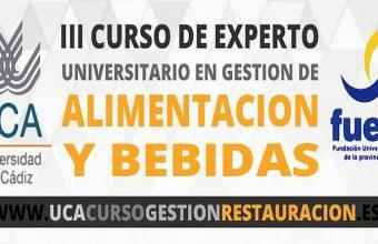 Hasta el 29 de octubre. Jerez. Inscripciones para el IV Curso de Experto en Gestión de Alimentación y Bebidas