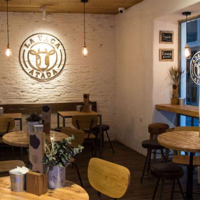 Vista de la cafetería. Foto: Cedida por La Vaca Atada