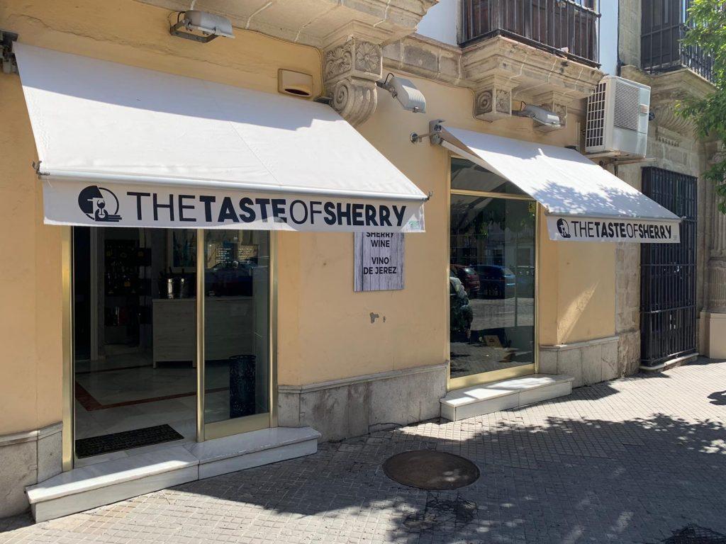 La fachada de The taste of sherry. Todas las fotos han sido cedidas por el establecimiento.