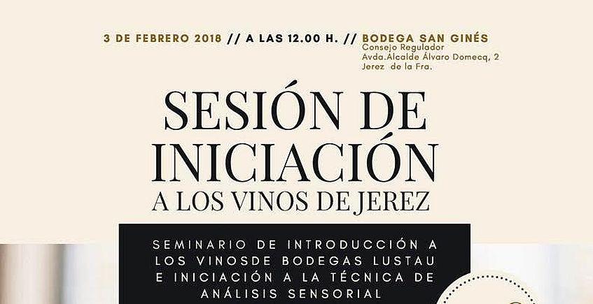 3 de febrero. Jerez. Sesión de iniciación a los vinos de Jerez