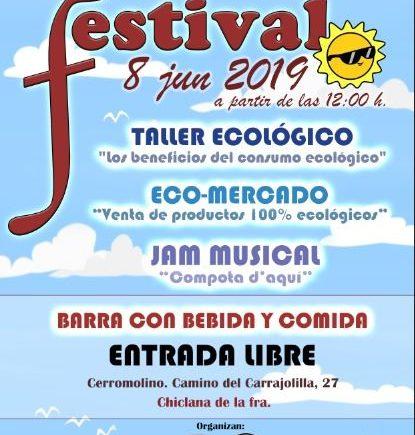 Ecomercado y festival en Chiclana el 8 de junio