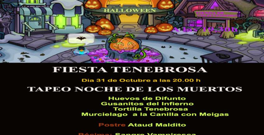 Fiesta tenebrosa en El Berrueco Gastro de Medina el 31 de octubre