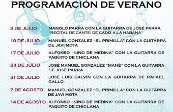 Programación de verano en La Embajada de Chiclana del 3 de julio al 4 de septiembre