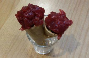 Conos de atún rojo de almadraba y guacamole de La Marmita