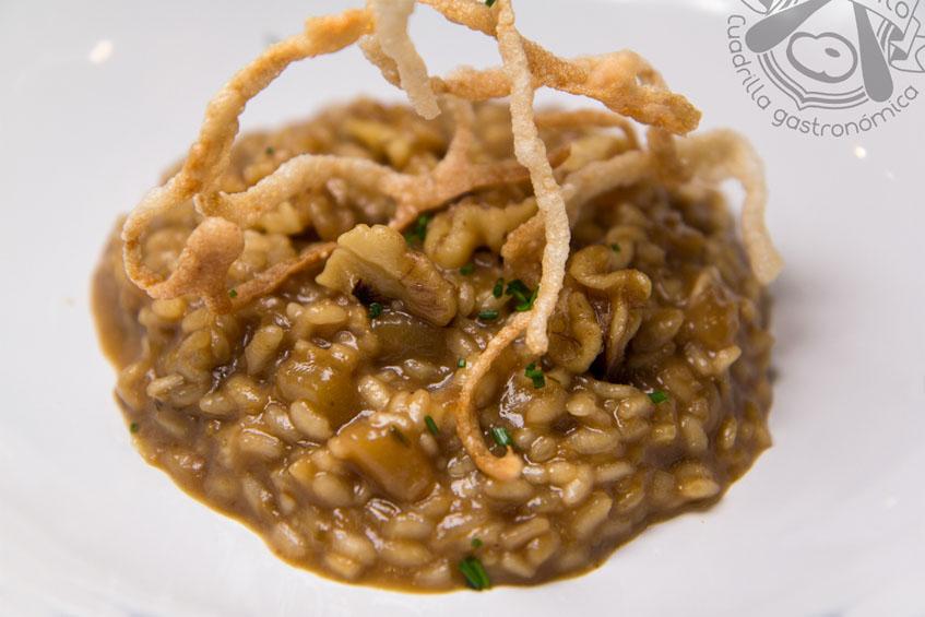 El risotto fotografiado por la cuadrilla gastronómica Al Punto.