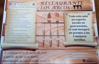 Concurso de tortillas de patatas en el Restaurante Los Arcos de Algeciras