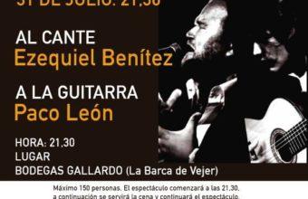 Cena y espectáculo en Bodegas Gallardo