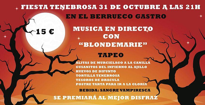 31 de octubre. Medina Sidonia. Fiesta tenebrosa en El Berrueco Gastro