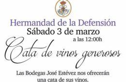 3 de marzo. Jerez. Cata de vinos generosos de José Estévez