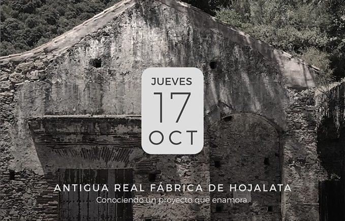 Presentación Antigua Real Fábrica de Hojalata de San Miguel en Bodegas Collado en San Roque