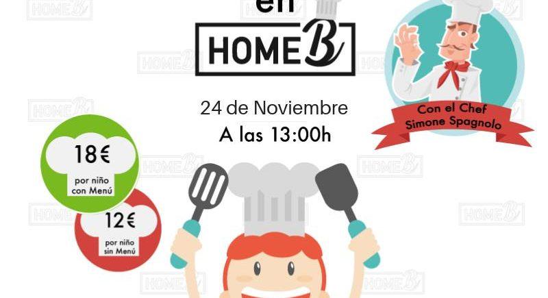 24 de noviembre. Chiclana. Cocina divertida para niños en Home B